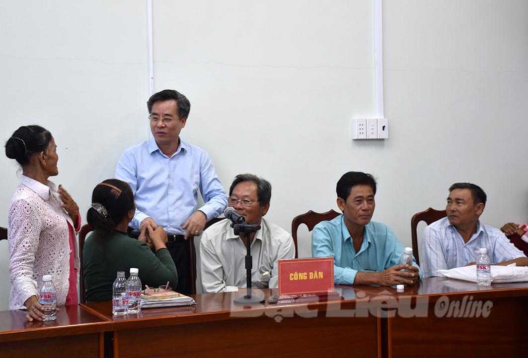 Lãnh đạo tỉnh tiếp công dân 2 huyện Hồng Dân và Phước Long