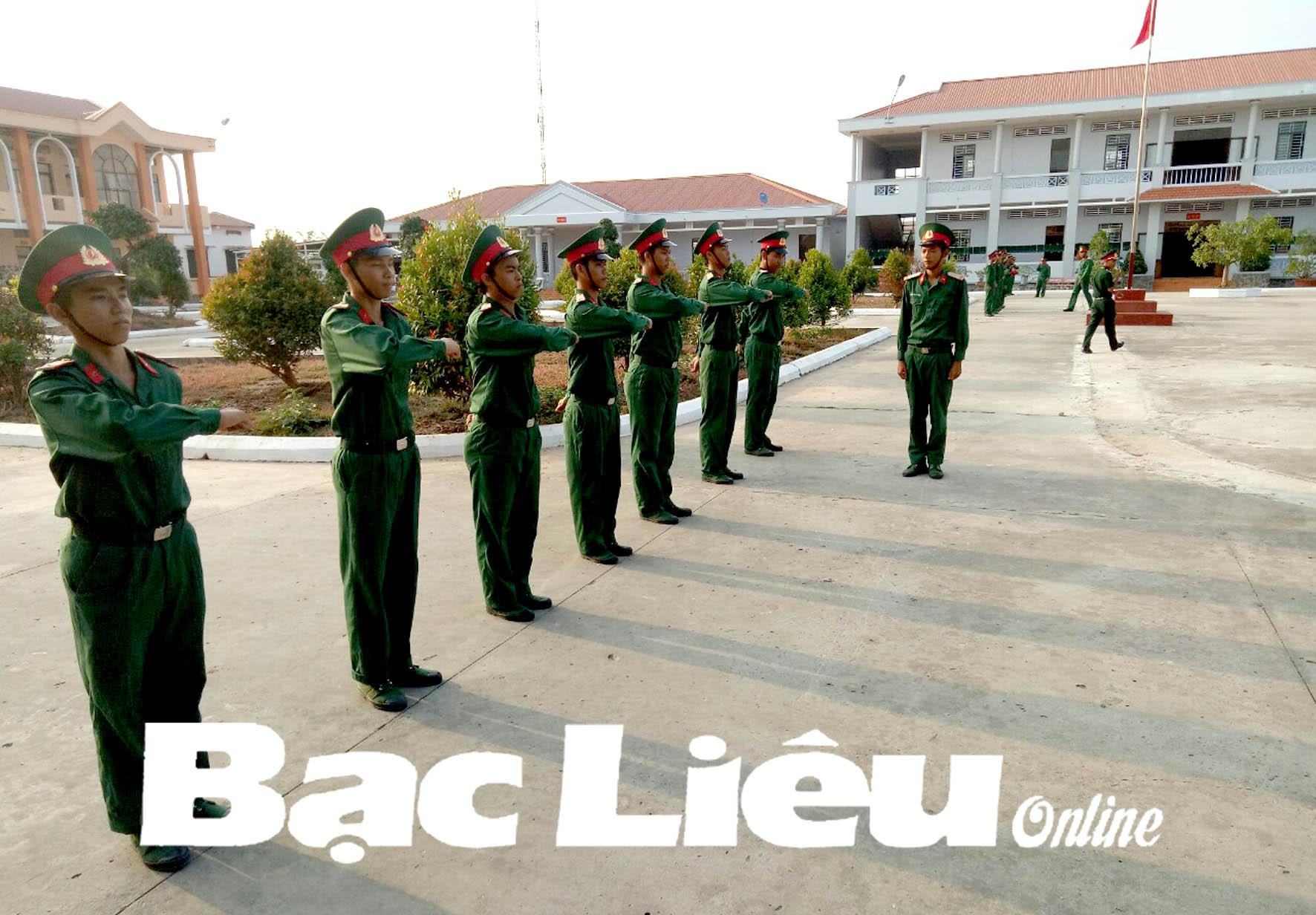 Nâng cao chất lượng huấn luyện chiến sĩ mới năm 2019