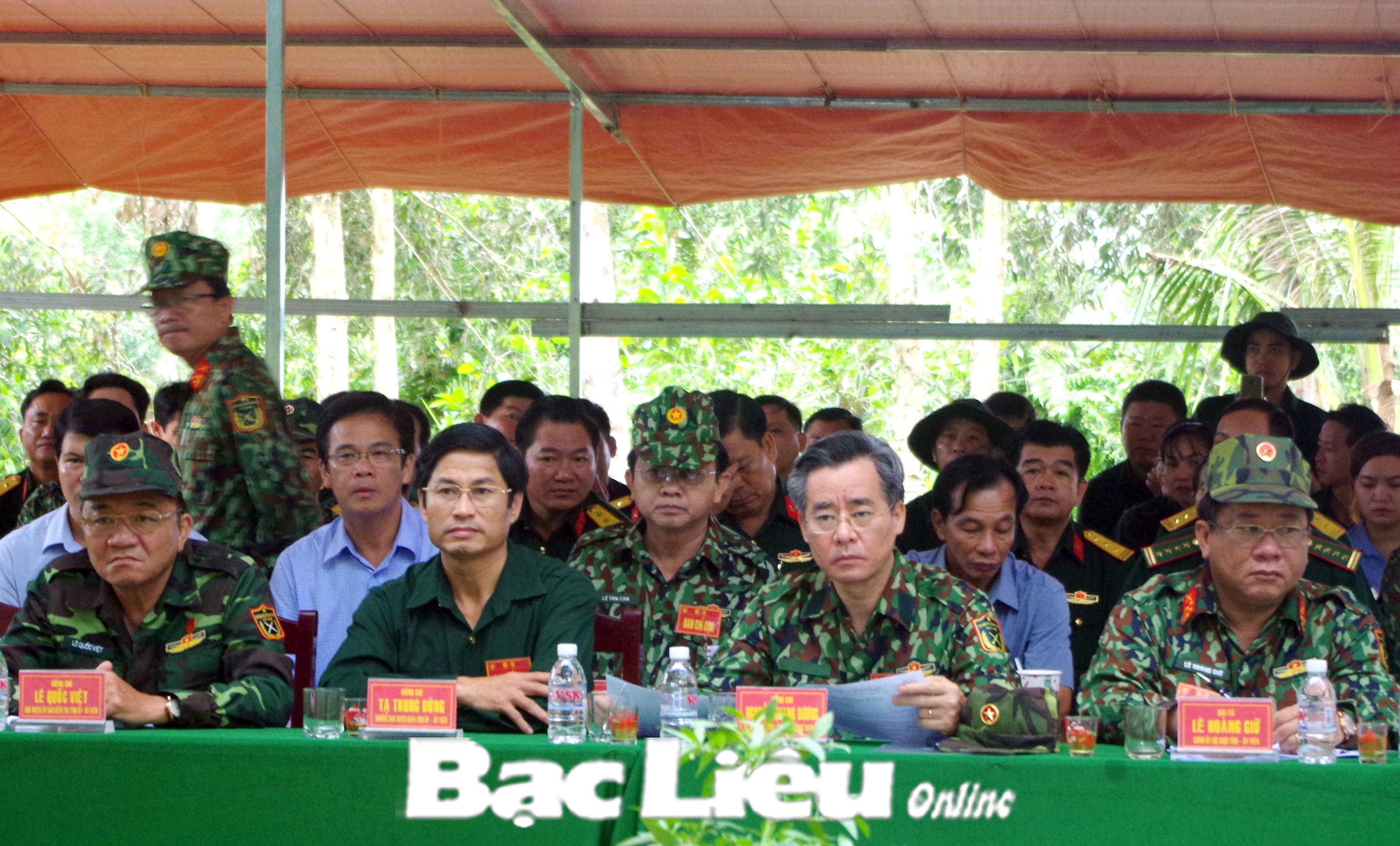 Bí thư Tỉnh ủy - Nguyễn Quang Dương chỉ đạo diễn tập khu vực phòng thủ huyện Hồng Dân