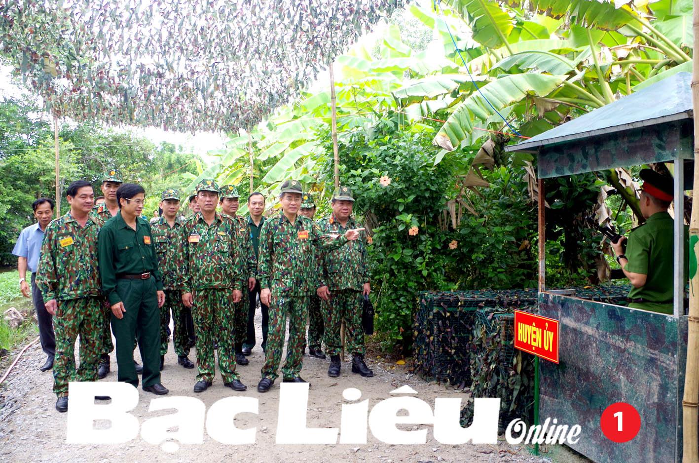 Huyện Hồng Dân: Diễn tập khu vực phòng thủ 1 bên 2 cấp thành công tốt đẹp