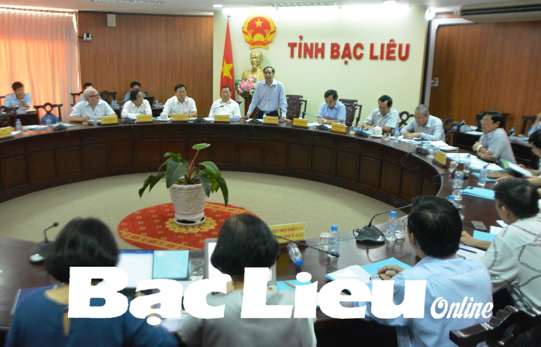 Ban Kinh tế Trung ương: Họp Tổ công tác Đề án phát triển kinh tế liên kết tiểu vùng Bán đảo Cà Mau tại Bạc Liêu