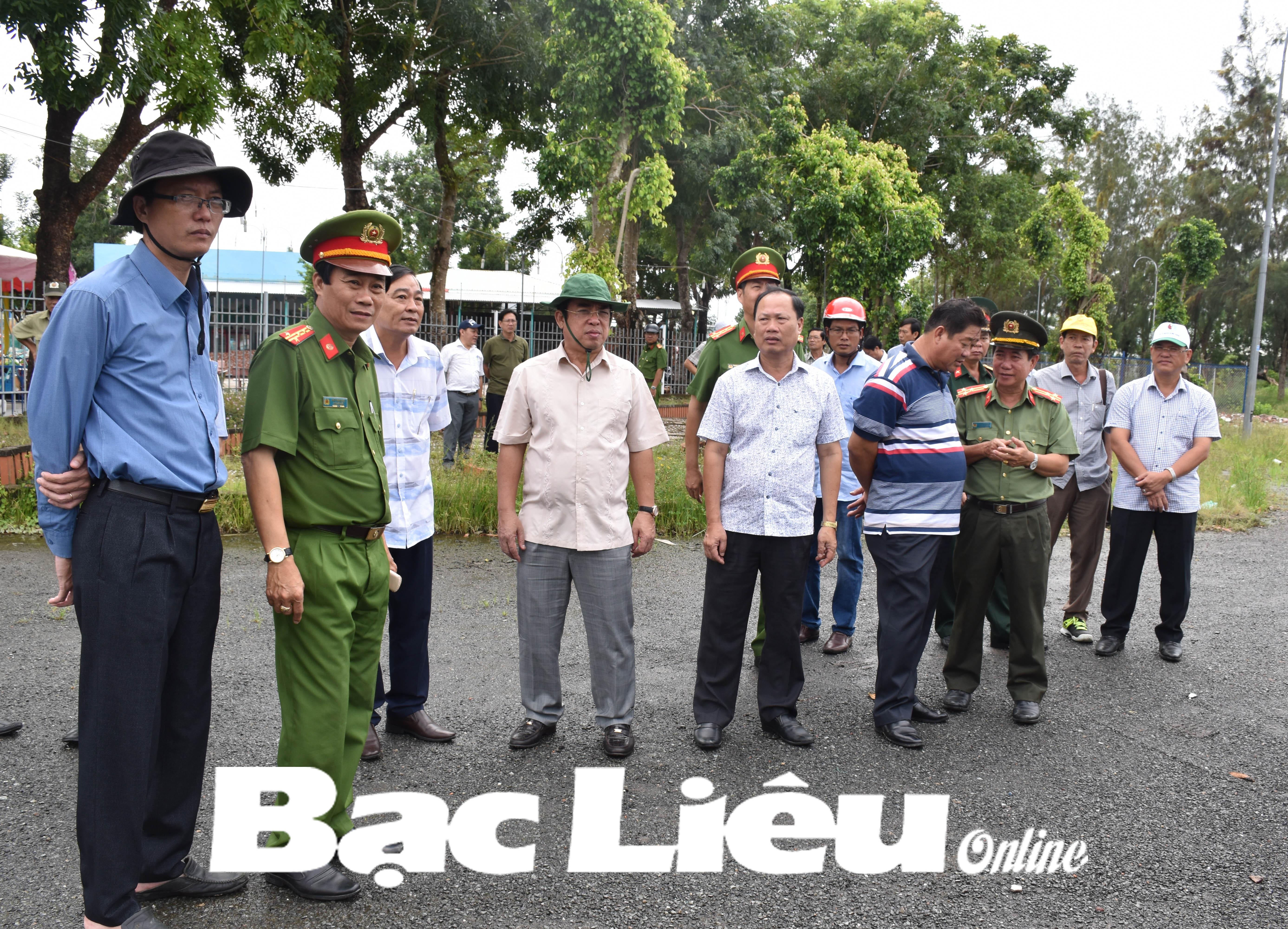 Chủ tịch UBND tỉnh - Dương Thành Trung kiểm tra tiến độ giải phóng mặt bằng tại một số dự án trọng điểm trên địa bàn TP. Bạc Liêu