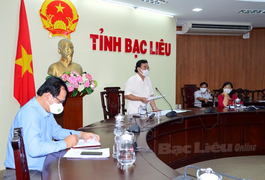 Chủ tịch UBND tỉnh Dương Thành Trung chủ trì cuộc họp trực tuyến với BCĐ phòng, chống dịch bệnh COVID-19 các huyện