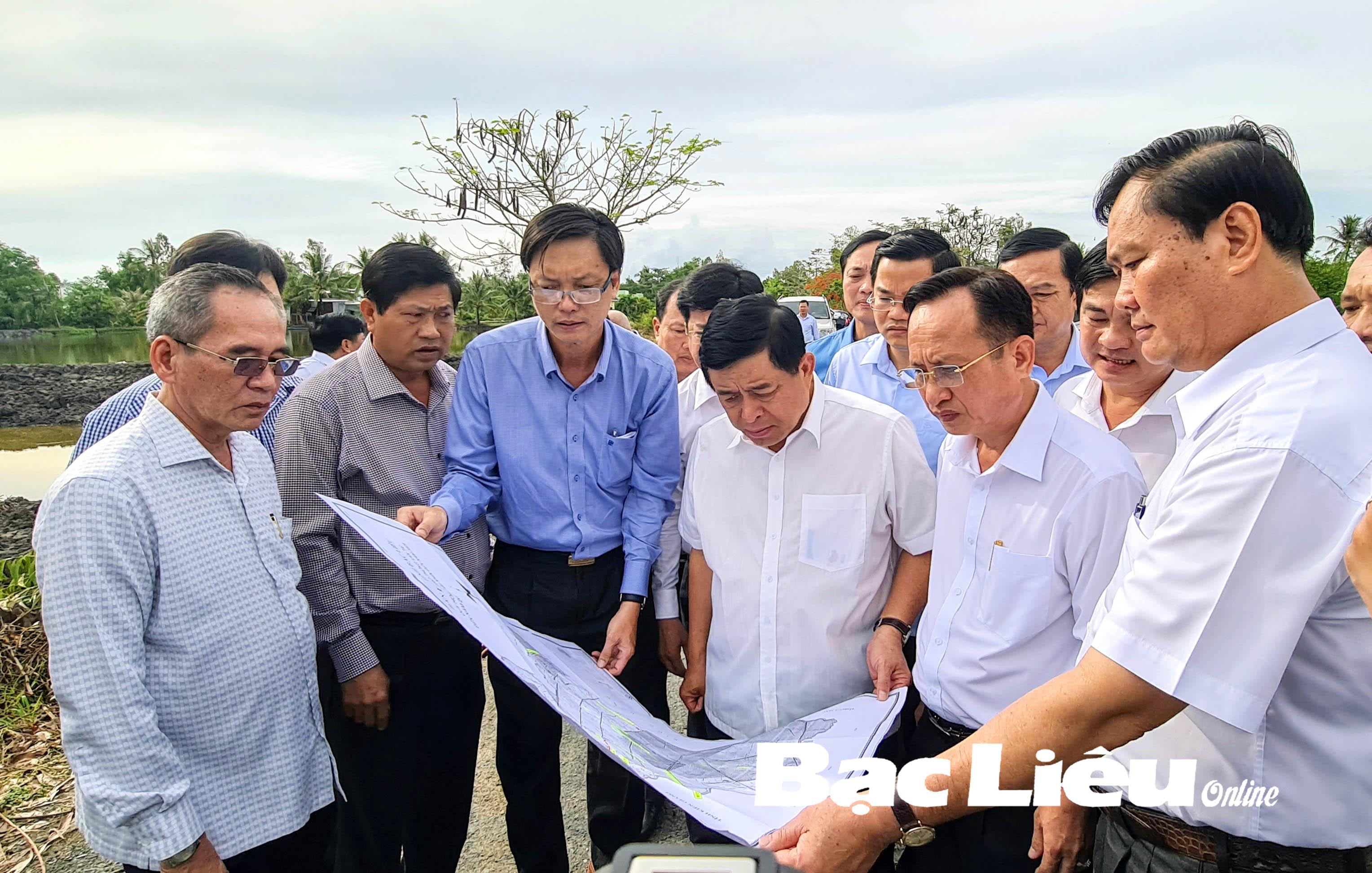 Bộ trưởng Bộ KH&ĐT - Nguyễn Chí Dũng: Khảo sát các dự án  trọng điểm của Bạc Liêu