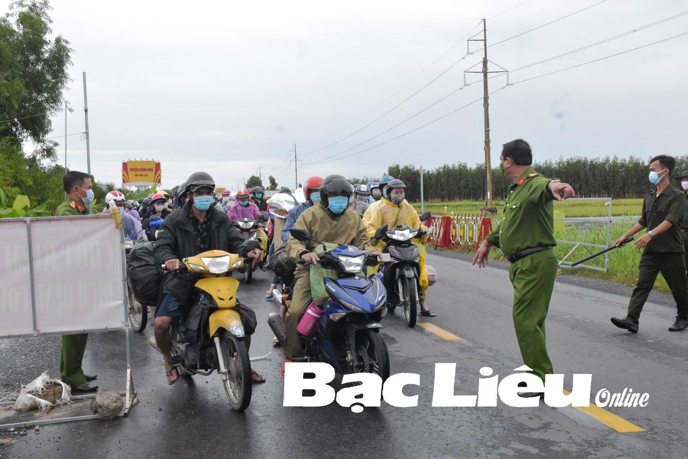 Người vào địa bàn tỉnh Bạc Liêu: Phải tuân thủ các quy định theo từng cấp độ